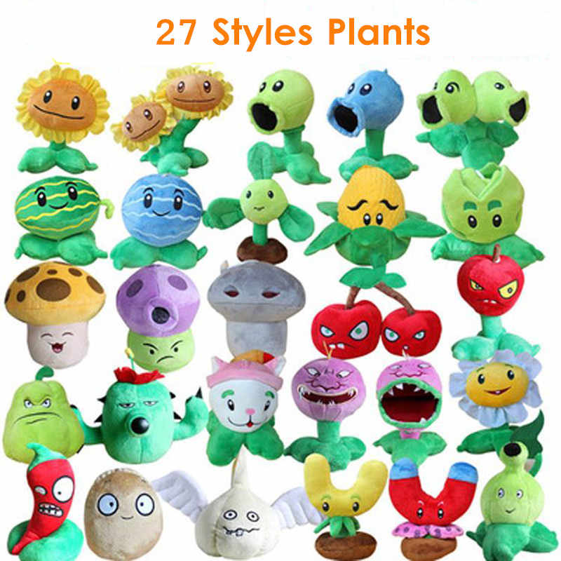 27 Styles Plants vs Zombies Plush Toys 13-20cm Plants vs Zombies Plush Stuffed Toys Soft Game Toy for Children Kids Gifts