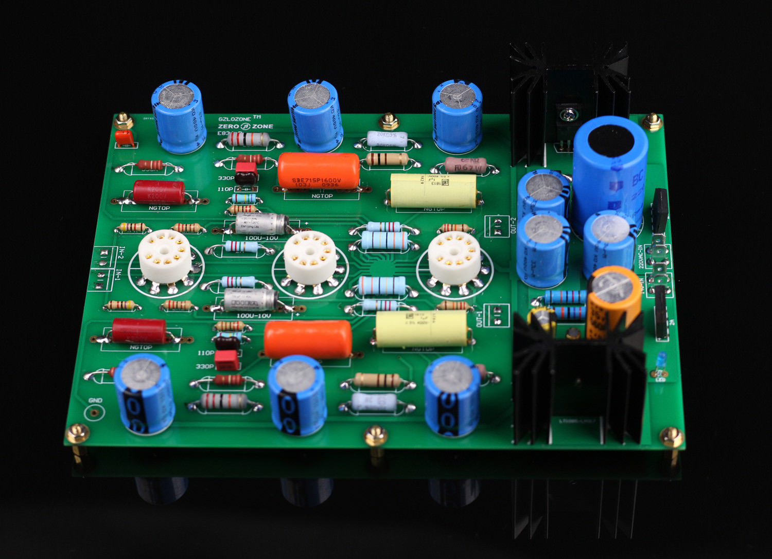 GZLOZONE Assembeld V18 RIAA MM Tube phono stage amp board base on EAR834 (no tube) L3-34 gzlozone one pair assembeld lm3886 amp board base on jeff rowland amp 360w 360w l11 4
