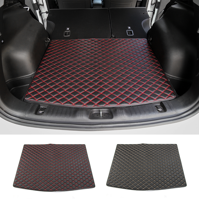 MOPAI Car Interior Accessories Leather Cargo Liner Trunk Cargo Liner Floor Mat Kit For Jeep Compass 2017+ car rear trunk security shield cargo cover for volkswagen vw tiguan 2016 2017 2018 high qualit black beige auto accessories