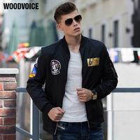 Woodvoice High Quality Ma1 Army Green Tactical Military Varsity Flight Windproof Pilot US Air Force Bomber