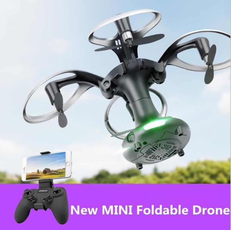 Nouvelle balle pliable RC quadrirotor 2.4G hauteur fixe 100M oeuf pliable WIFI FPV en temps réel selfile RC drone 2.0MP/0.3MP caméra