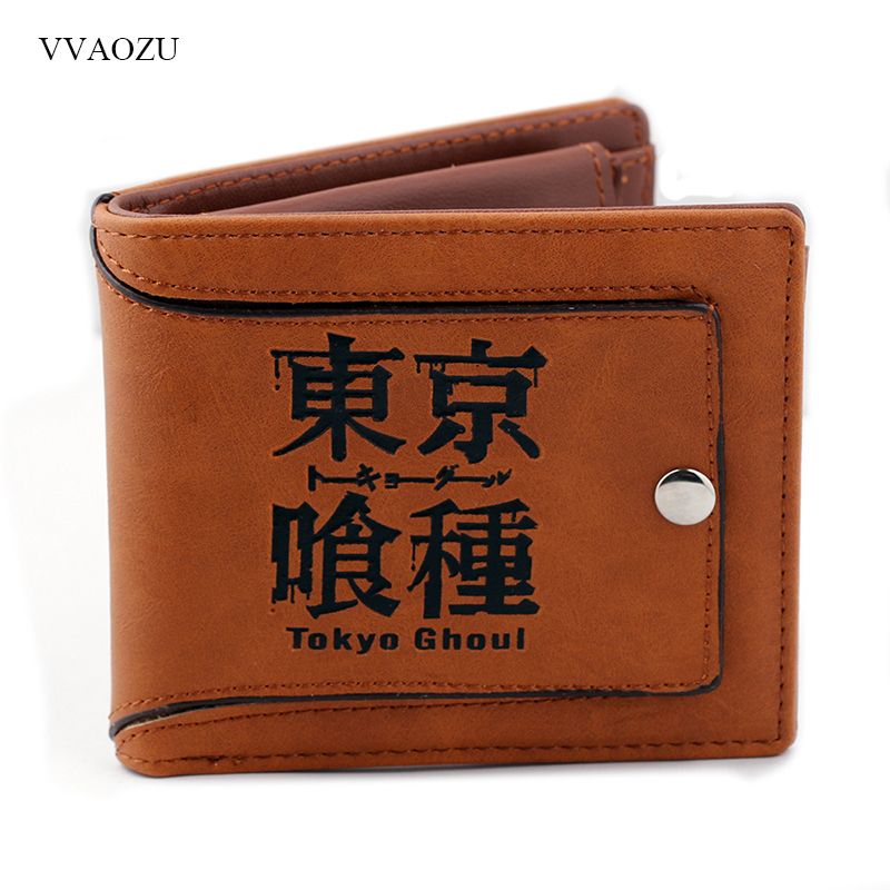 Anime Cartoon Short Wallet Tokyo Ghoul Kaneki Ken Vintage Card Holder Purse with Coin Purse