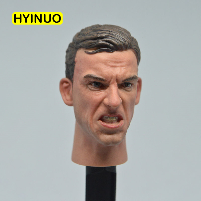 1/6 Scale First World War World War II Soldier Angry Edition Head Sculpt Headplay for 12 Action Figure Body