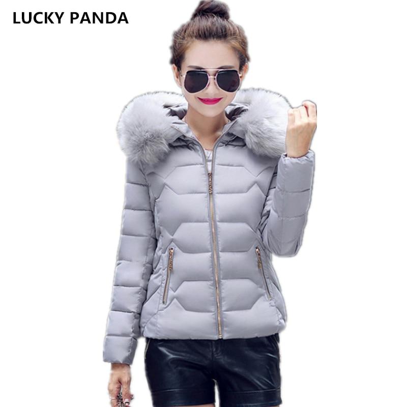 Lucky Panda 2016 Autumn and winter cotton padded short down jacket dress Korean slim warm big fur coat thick thin LKP244 lucky john croco spoon big game mission 24гр 004