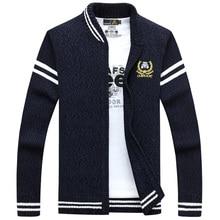 Afs джип мужские кардиган свитер брендовая одежда мужчины молния свитера мужской кардиган в полоску Стенд воротник вязаный Sueter Hombre 85zr
