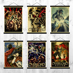 Overlord Anime Wall Scroll Poster Home Decor cosplay Retro Poster Cafe Home Wall Decor Poster Art Decoration