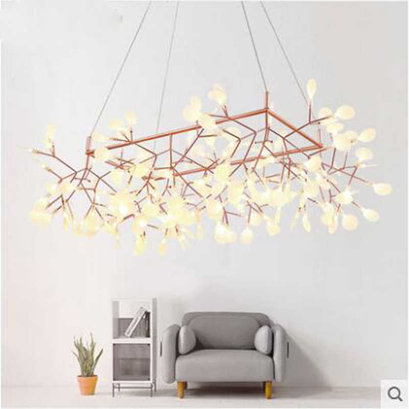 Нордическая люстра минимализм, люстра для гостиной, креативная индивидуальная Люстра для ресторана, Современная дизайнерская Светодиодная лампа