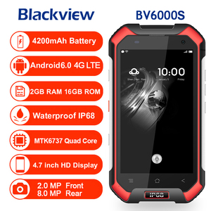 "Image 2 - Original Blackview BV6000S IP68 Waterproof shockproof Smartphone MT6737T Quad Core Android 6.0 4G LTE  2GB RAM 4.7"" Mobile Phone"