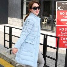 Новая зимняя мягкий воротник женщин пальто длинный участок большой размер мода Тонкий теплый хлопок пальто куртки