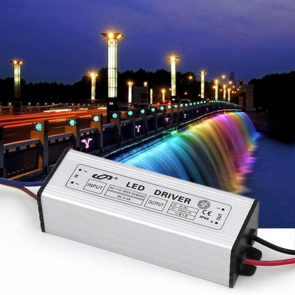 <font><b>Super</b></font> Deal 1Pcs Aluminum 50W LED Driver Adapter Transformer AC 160-265V TO DC 20-39V DC <font><b>Switch</b></font> <font><b>Power</b></font> <font><b>Supply</b></font> TY-0050