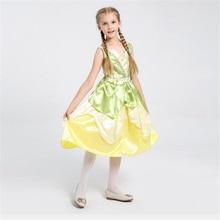 Fancy Girls Elf Princess Costume Halloween Kids Cosplay Dress