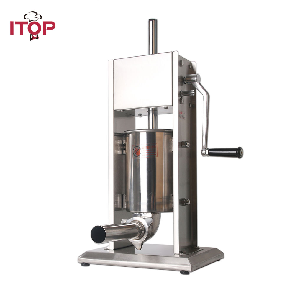 ITOP Stainless Steel 3L/5L/7L Sausage Stuffers Food Meat Filling Machine Munual Sausage Fillers Commercial Kitchen Appliences