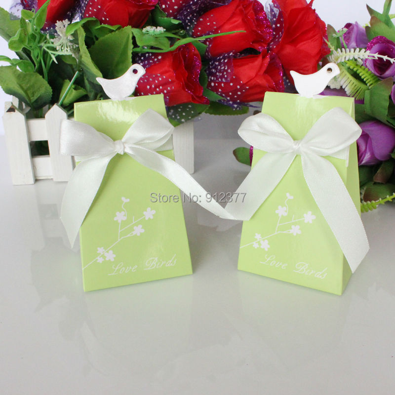 Avebien 50pcs love bird candy box wedding decoration favors box free shipping just send by china post air mail to australiacandadaunited kingdomunited states will usually take 15 to 30 days to arrival junglespirit Choice Image