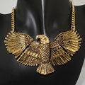 Danfosi Eagle Chain necklaces Fashion Choker necklace Pendants for Women Dress Vintage gold color Chain Maxi Jewelry Collars