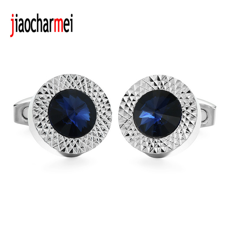 High quality men's gift new fashion boutique clothing accessories brand cufflinks Crystal cufflinks. 12 double wholesale sales