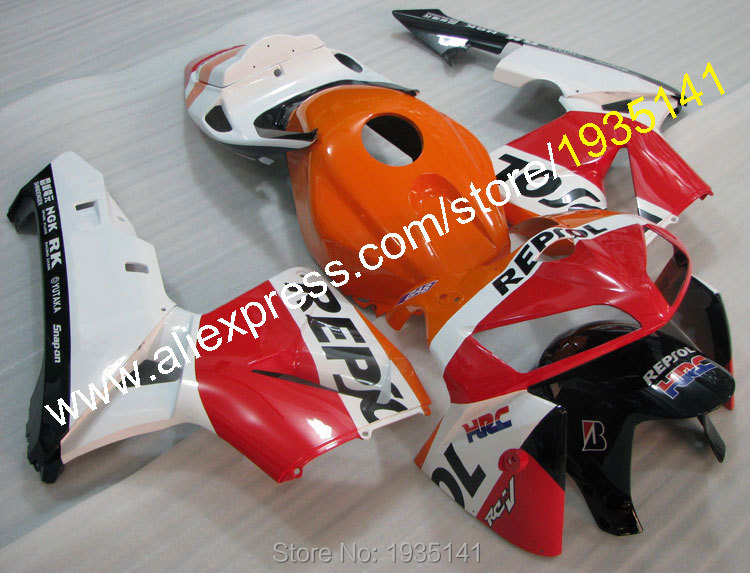 Hot Sales,For Honda CBR600RR F5 2005 2006 CBR 600 RR 05 06 Repsol Custom Aftermarket Motorcycle Fairing Kit (Injection molding) hot sales for honda cbr600rr 2003 2004 cbr 600rr 03 04 f5 cbr 600 rr blue black motorcycle cowl fairing kit injection molding