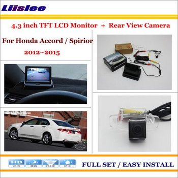 """Liislee For Honda Accord/Spirior 2012~2015 Car Rearview Camera + 4.3"""" LCD Monitor = 2 in 1 Parking Assistance System"""