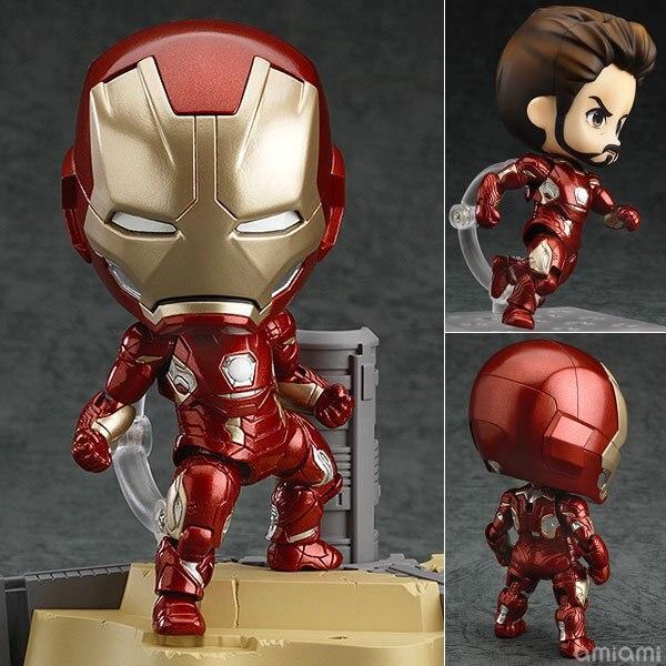 Anime Marvel Nendoroid 545 Marvel IronMan Super Hero Iron Man Avengers 10cm Action Figure Toys