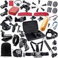 Acción cámara de vídeo kit de accesorios para gopro hero 4 sjcam sj4000 sj5000 xiaomi yi soocoo c30 4 k wifi cámara impermeable del deporte dv sck01
