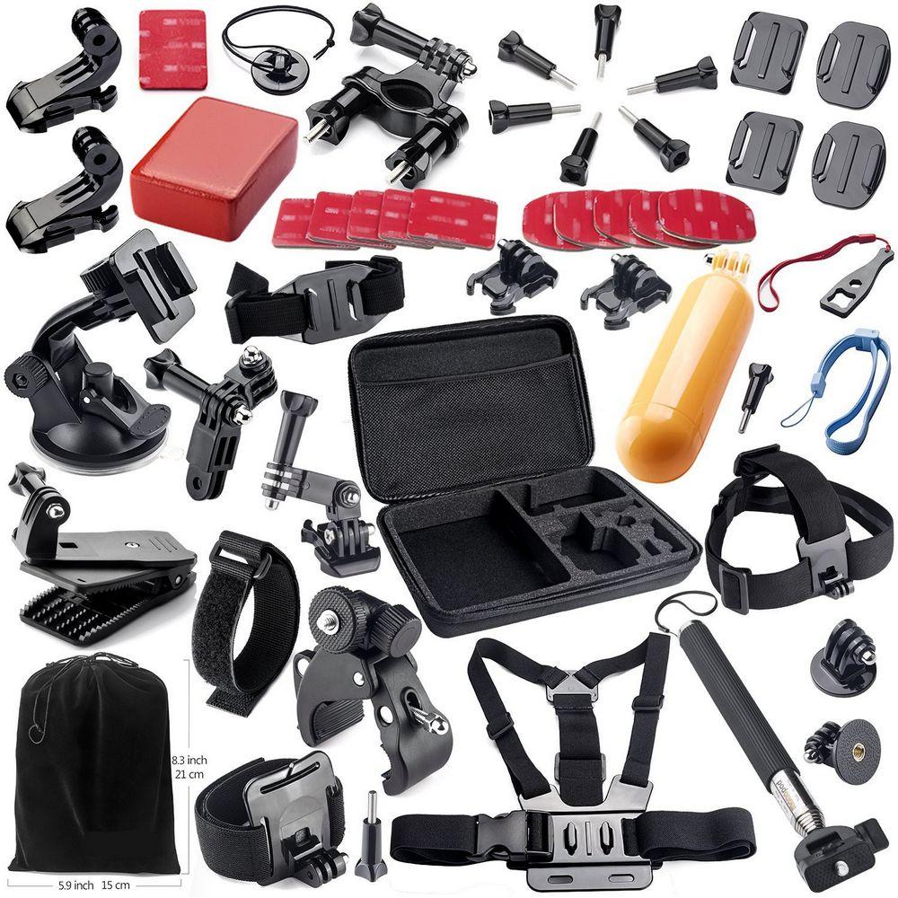 Go Pro Accessories Kit for GoPro Hero 5 4 SJCAM SJ6 SJ7 SOOCOO C30 S100 Wifi Waterproof Sport DV Apeman Yi 4K Action Camera 2 husiway for gopro accessories set for go pro hero 5 4 3 2 kit mount for sj5000 eken soocoo xiaomi yi 4k camera tripod 13m