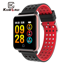 Kaimorui Smart Bracelet Men Color Screen Heart Rate Tracker Pedometer Bluetooth Wristband for Androidn IOS Band