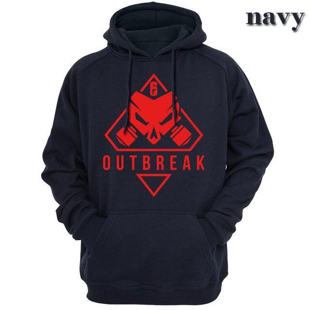 new Rainbow Six Siege Operation Chimera Logo Men Hoodies Sweatshirts Gaming R6 Siege Operation Outbreak Outerwear Hoody Casual 1