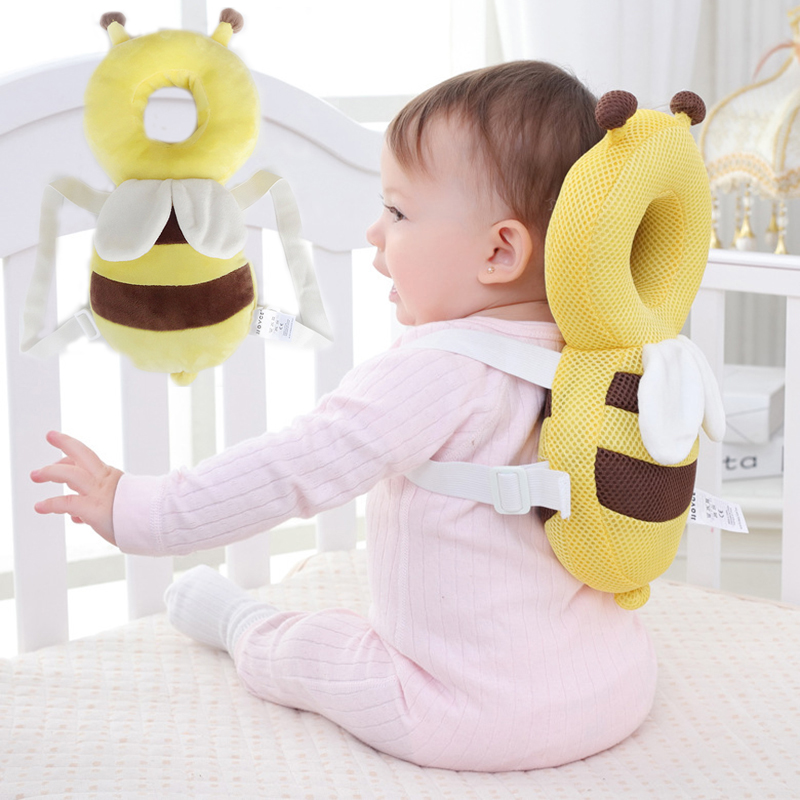 Toddler Headrest Pillow Baby Head Protection Pad Baby Neck Wings Nursing Drop Resistance Cushion Backpack Newborn Protect Pillow