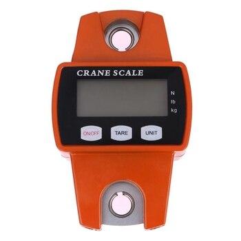 300Kg Mini Grúa Báscula Portátil Lcd Digital Electrónico Acero Inoxidable Gancho Colgante Grúa Báscula Balanza De Pesaje