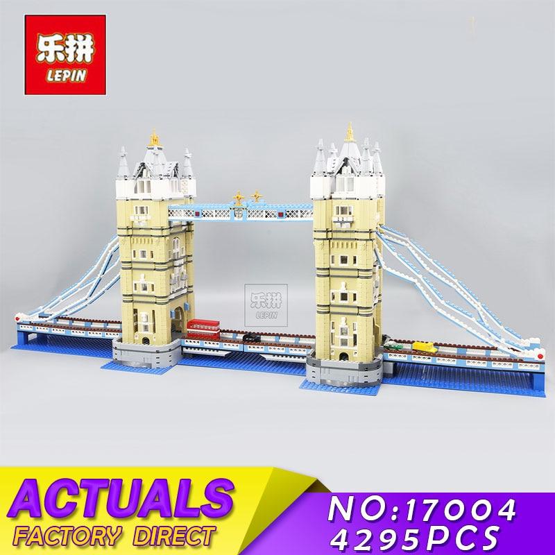 LEPIN 17004 4295Pcs Creator Expert London Bridge Model Building Blocks Bricks Educational Toys for Children Compatible 10214 все цены