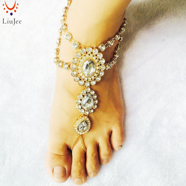 Barefoot Sandals Gold Foot Jewelry Beach wedding Sandals Destination