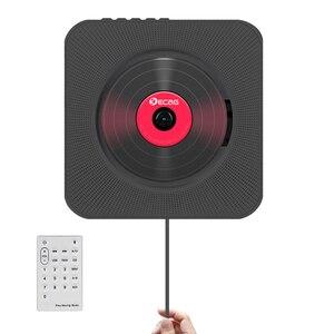 Image 1 - נייד CD MP3 Bluetooth נגן קיר Mountable בית אודיו Boombox רמקול טרום לידתי עם שלט רחוק FM רדיו USB מהדר