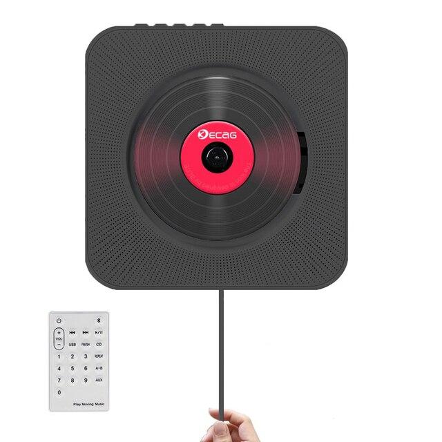 المحمولة CD MP3 بلوتوث لاعب وول ركوب المنزل الصوت Boombox قبل الولادة مع التحكم عن بعد FM راديو USB مكرر