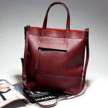 Brand Design Handbag Genuine Leather Handbags 2017 New Ladies Cow Leather Shoulder Bag Fashion Ladies Bag Free Shipping