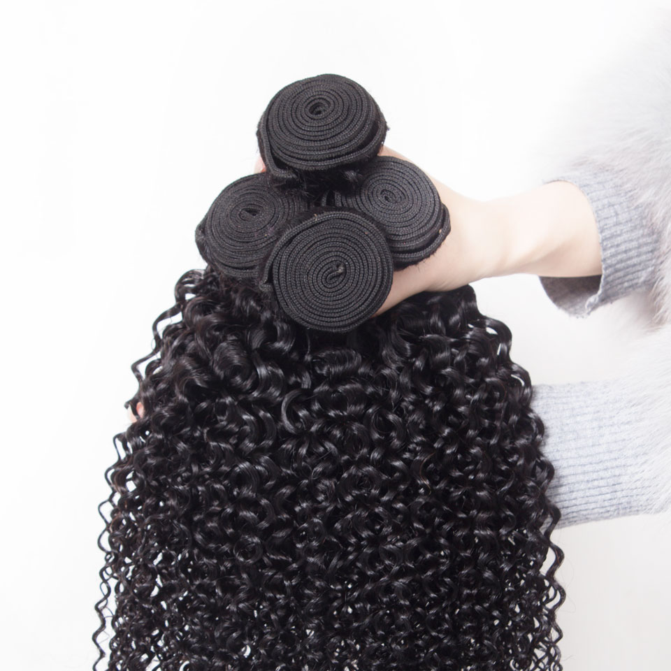 mongolian afro kinky curly 4 bundles with closure human hair bundles with closure deep curly brazilian hair weave bundles with closure