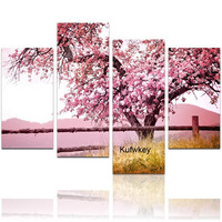 4 pcs,full diamond embroidery Sakura tree picture,5d diy diamond painting flower Cross Stitch Rhinestone mosaic home decoration