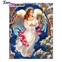 Ever Moment Diamond Painting Angle Wing Candle Full Square Drill 5D DIY Mosaic Diamond Embroidery Cross Stitch Decor 3F1417