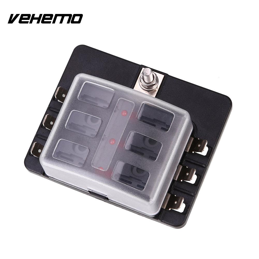 Vehemo Fuse Box 6way Led Indicator Light Safety Pc Wiring Terminal High Quality Abs In Fuses From Automobiles Motorcycles On Alibaba