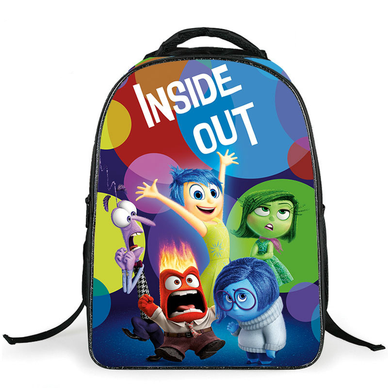 New Fashion 3D Cartoon Inside Out Kids School Backpack for Girl or Boy Children Double Shoulder Schoolbag Primary Students Bag