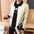 Autumn 2016 PU Leather Jacket Men Motorcycle Fashion Personality Sequin Gold Silver Men Nightclub Costume Men Leather Jacket 5XL