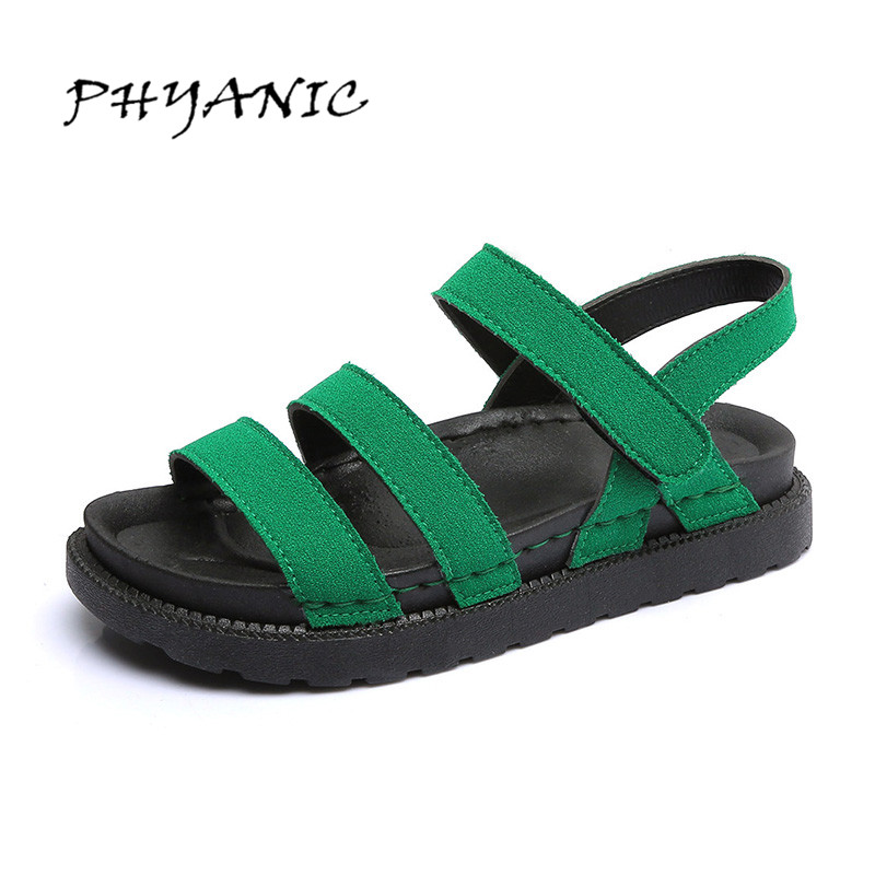 PHYANIC Platform Women Sandals 2017 New Summer Gladiator Sandals Beach Flats Shoes Woman Hook & Loop Casual Women Shoes PHY3341 phyanic gold silver wedges sandals 2017 new platform casual shoes woman summer buckle creepers bling flats shoes phy4040