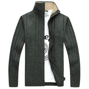 Jackets Sweater Cardigan-Stand-Collar Embroidery Autumn Casual Winter Mens New-Fashion
