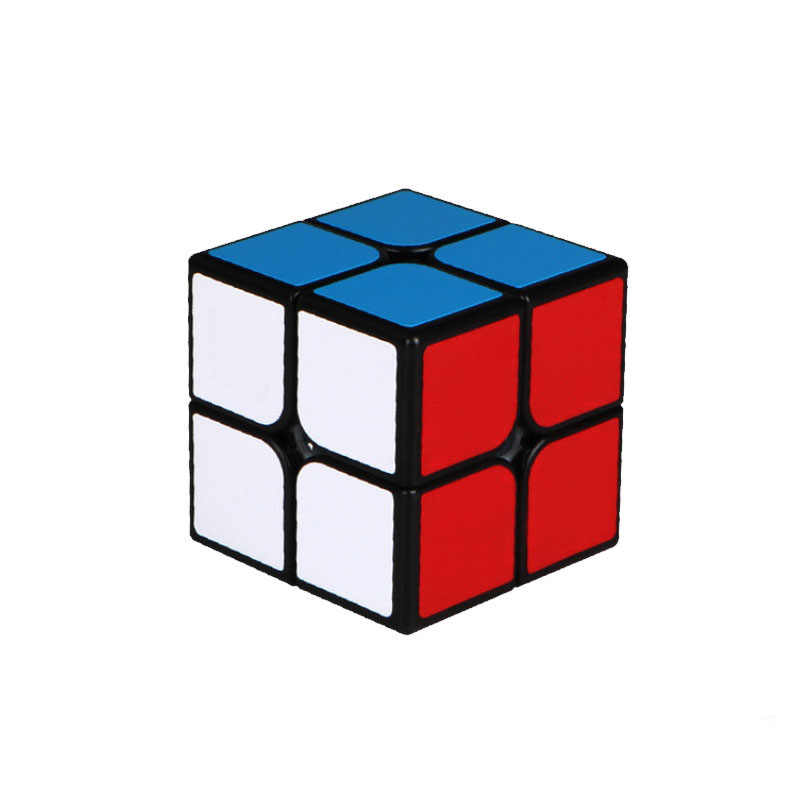 2X2 magic cube 2 by 2 cube 50mm speed pocket sticker puzzle cube professional educational toys for children