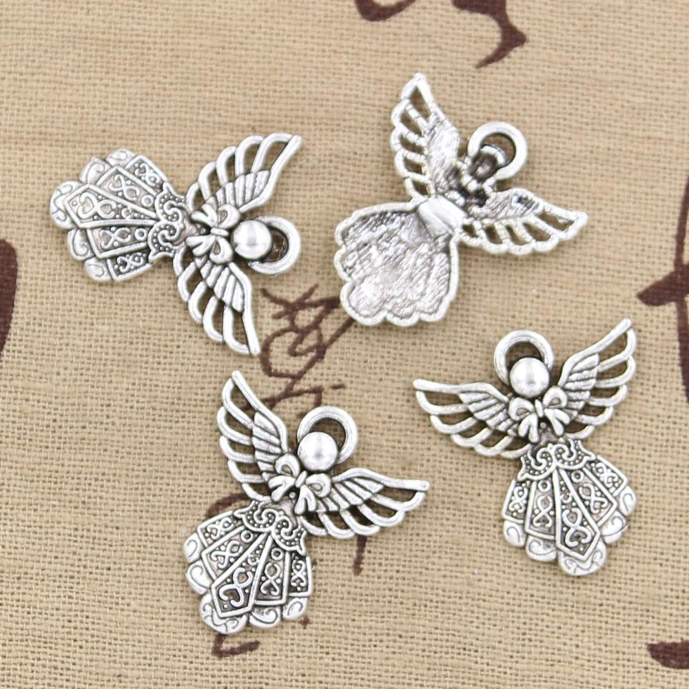 Charm pendant Tibet silver little ange  20x18mm 2g