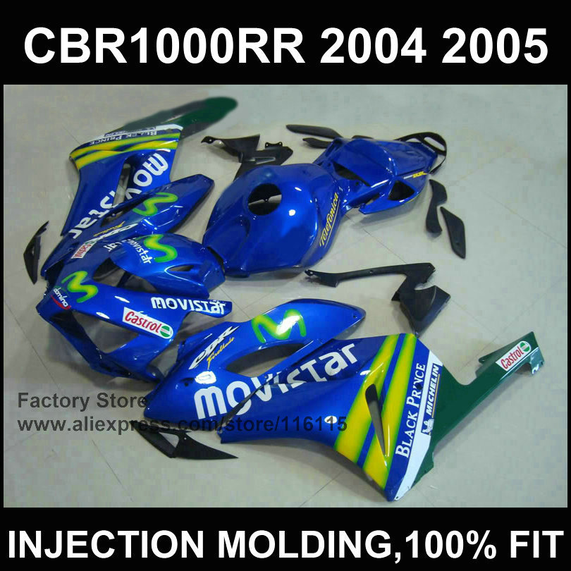Custom free fairing for Injection mold    CBR 1000RR fairings kit 2004 2005  cbr1000rr 04 05 movistar motobike fairings aftermarket injection mold custom design givi fairing body kit for 04 05 cbr1000rr cbr 1000 rr 2004 2005