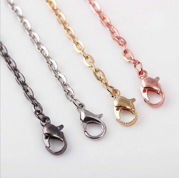 ①4 colores oro/plata/oro rosa/Negro DIY enlaces Cadenas para ...