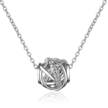 Everoyal Latest Female Silver 925 Necklace For Women Jewelry Charm Gold Hollow Ball Pendant Girls Lady Accessories Hot