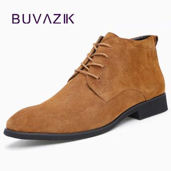 BUVAZIK męskie buty ze skóry prawdziwej skóry sznurowane męskie buty płaskie skórzane buty robocze mężczyzn buty męskie na co dzień wskazał zapatos de hombre tanie i dobre opinie Skóra bydlęca Gumowe Świńskiej Derby buty Oddychająca Lace-up Wiosna jesień Stałe Pasuje prawda na wymiar weź swój normalny rozmiar