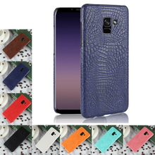 купить For Samsung Galaxy A8 2018 Case Luxury Crocodile Skin PU leather Case For Samsung A8 Plus A8+ Cover For Galaxy A5 A7 2018 Case дешево