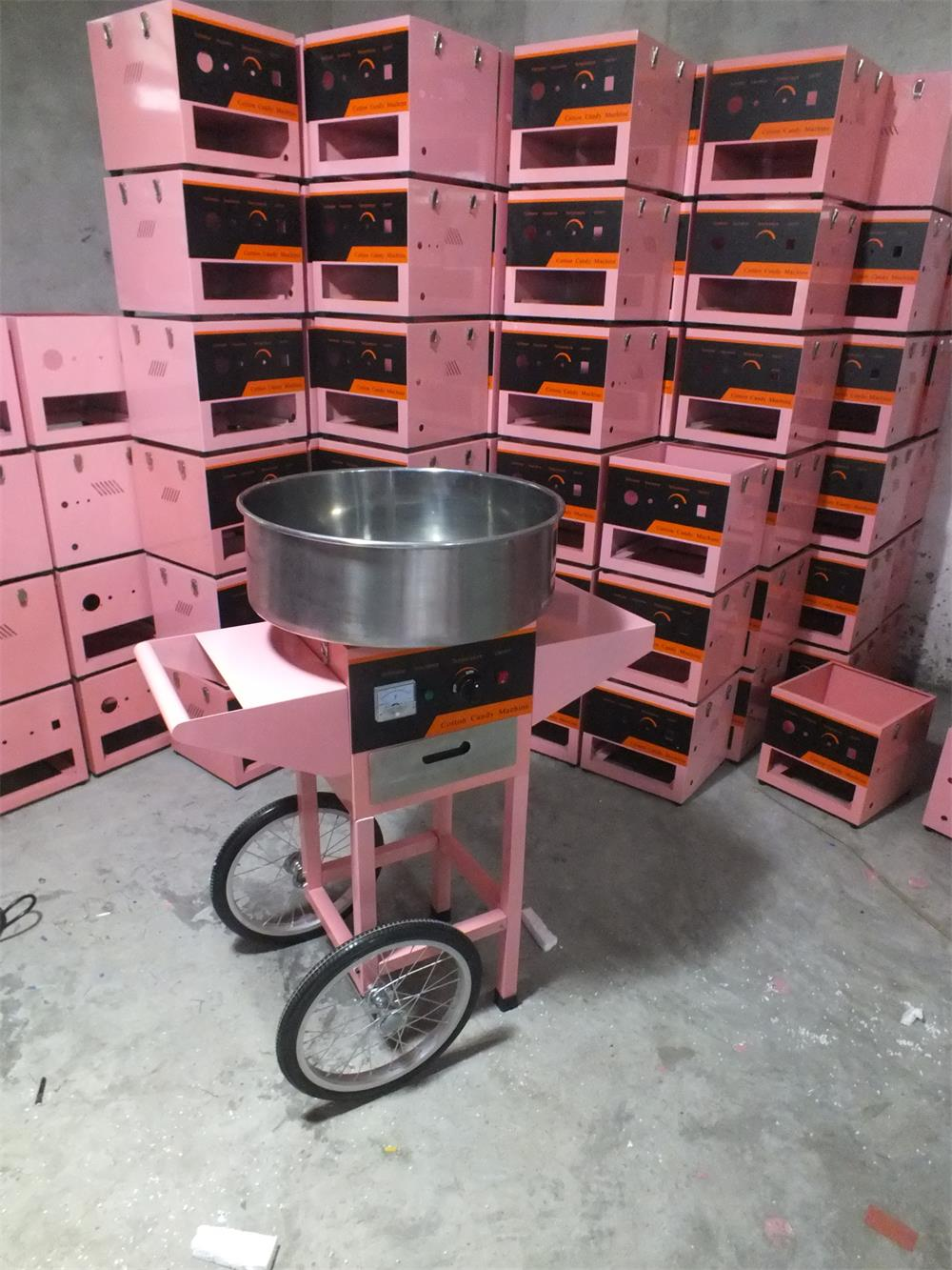 Christmas gift hot sale industrial cotton candy machine in pink low price cotton candy machine with cart 5000g hot selling low price uf water purifier machine