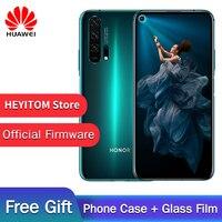 Оригинал HuaWei Honor 20 Pro telefono Kirin 980 Android 9,0 de 6,26 ips 2340X1080 8 Гб ram 256 ГБ rom 48.0MP huella dactilar NFC